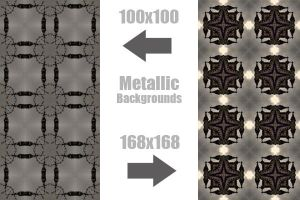 Metal Backgrounds by ariimage