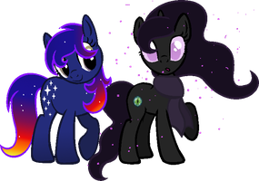 Maneswap - Galaxy and Endie by Laser-Pancakes