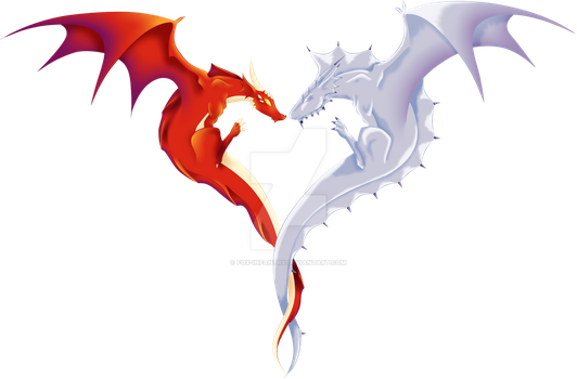 Red and Silver Dragon by Fox-Infantry