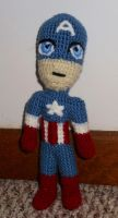 Captain America doll by JenniferElluin