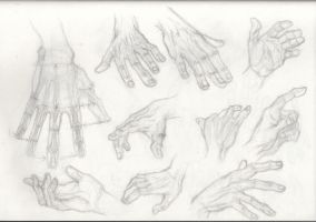 Drawing Male hands by OLUDAYONBA