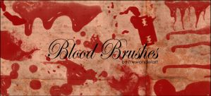 Blood Brushes by mywonderart