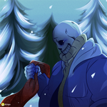 Undertale-SANS AND Gaster19 by k125125123