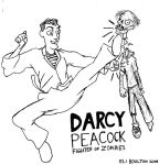 Darcy Peacock Zombie Fighter by postbagboy