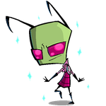 fabulous transparent pixely zim???? by TheTogekiss