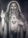 Sacred heart of our lord. by tonyszczudlo