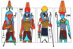 4 hot gods of Ancient Egypt I by PolaristheCepheid