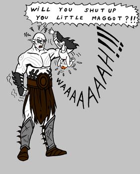 Azog and baby Bolg colored by zoccu