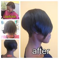 Hair Extenstions and Cut by Anesthetic-X