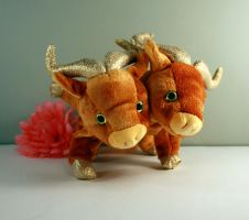 Two headed gold ox by Jadetiger