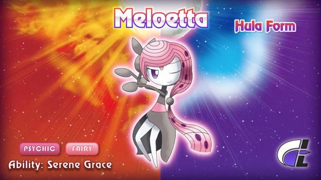 Hula Form Meloetta by ShadowLifeman