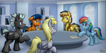 In the Weather Factory Office -Commission- by BuizelCream
