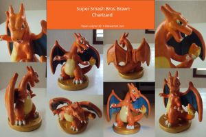 Brawl trophy: Charizard by papersculptor