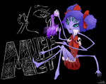 Muffet in her spiffy parlor by Scruta
