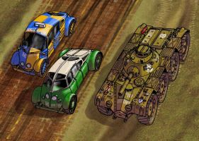 Tambrian cars and APC Detail by wingsofwrath