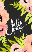 Hello Spring iPhone with text by cocorie
