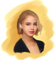 Jennifer Lawrence Speed Paint by LuisFaus