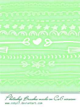 Hand draws borders brushes for Photoshop. by Coby17