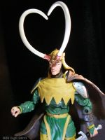 Loki does have a heart - Long horned heart by SurfTiki