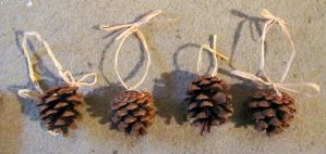 Pine cone Decorations by Lost-in-the-day