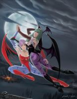 Morrigan and Lilith by arm01