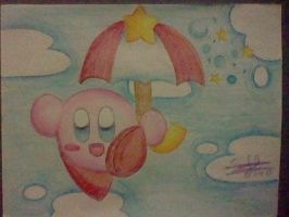 Parasol Kirby by SuperMarioFan888