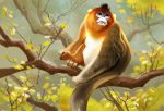 Chinese Golden Snub-nosed Monkey by banhatin