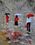 three in the rain by pledent