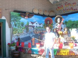 Me in front of Day of the Dead by MuralsbyLeBold