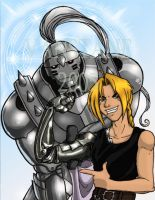 Full Metal Alchemist Brothers by Danni-Stone