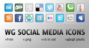 WG Social Media Icons by wegraphics