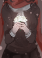 White Chrysanthemum by HaKamii