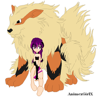 Kx and her Arcanine by khftw