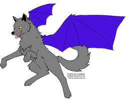 Falcon the wolf by PintoFire