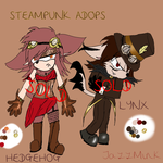:Sonic: Steampunk Adoptables Hedhog girl and Lynx by Jazz-M-Ink
