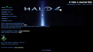 Halo 4 Journal Skin by Halo-Yokoshima