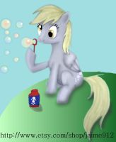 Derpy Blowing Bubbles by jaime912