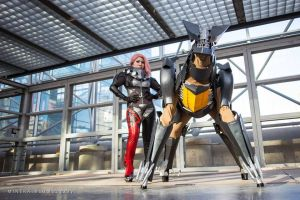 Mistral and Bladewolf by ProVoltageCosplay