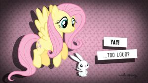 Fluttershy pink wallpaper by VeryGood91