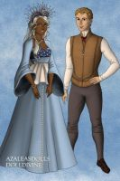 Tudor Disney Couples Milo Thatch and Princess Kida by SerenDippityDooDah
