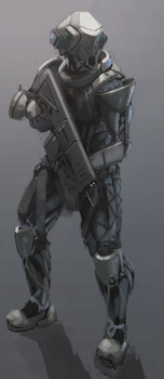 Axeron soldier WIP by Kwibl