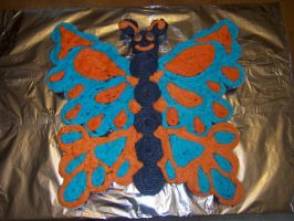 Butterfly cupcake cake by DeadKoiBunny