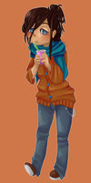 Thierry drinks boba. by LumiPop