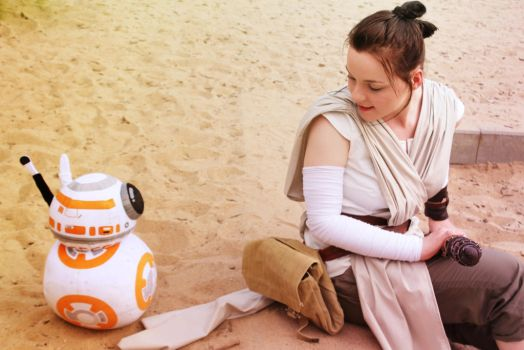 Rey and BB-8 by EmperorSteele92