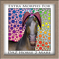 Morphs (CC-BY-30) for DAZ Horse 2: Mare by Skiriki
