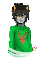 Karkat for Christmas by spittfireart