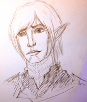 Little sad Fenris by tomrilove
