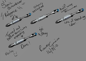 Sonic Screwdriver WIP Tutorial by ravengrimm