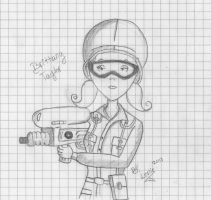 Brittany Taylor is Hunter (sketch) by AppleLittleDoll