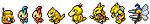 Yellow Pokemon Sprite Divider by Sweet-Fizz